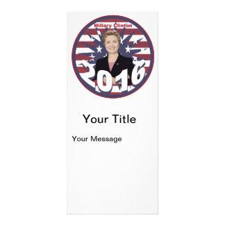 Hillary Clinton para o presidente 2016 10.16 X 22.86cm Panfleto