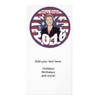 Hillary Clinton para o presidente 2016 Cartão Com Foto