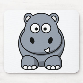 Hipopótamo engraçado bonito mouse pad
