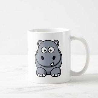 Hipopótamo engraçado caneca