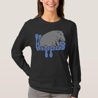 Hipopótamo pesado - azul tshirts