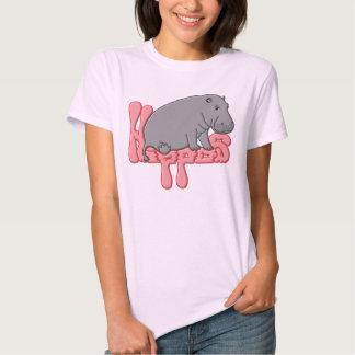 Hipopótamo pesado - rosa t-shirts