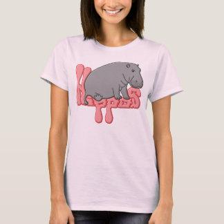 Hipopótamo pesado - rosa tshirts