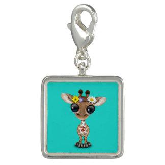 Hippie bonito do girafa do bebê charm com foto