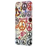 Hippie da paz & do amor de flower power capa iPhone 6 plus barely there