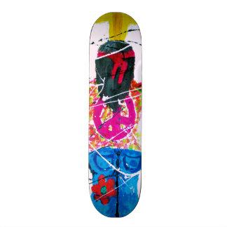 Hippie do sinal de paz shape de skate 20cm