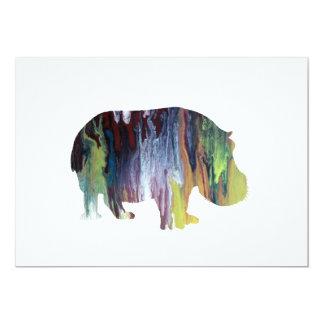 Hippopotamus Convite 12.7 X 17.78cm
