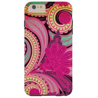 Hipster chique Paisley floral de Boho Capas iPhone 6 Plus Tough