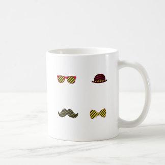 Hipster do bigode caneca