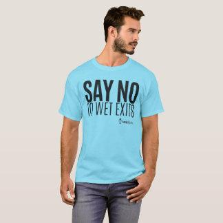 Hipster do caiaque - diga não molhar saídas - camiseta