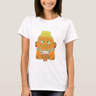 Hipster/do macaco louro t-shirts