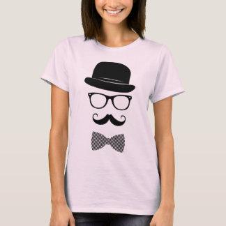 Hipster elegante camiseta