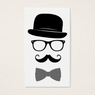 Hipster elegante cartão de visita