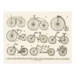 História de bicicletas francesas, publicada em 192 cartões postais