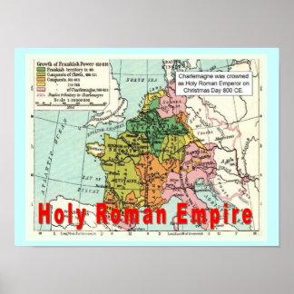 História, elevação do Islão, império romano Poster