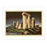 História retro 'Stonehenge de Sci Fi do vintage Cartões Postais