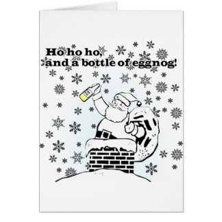 Ho, ho, ho, e uma garrafa da gemada! Cartão