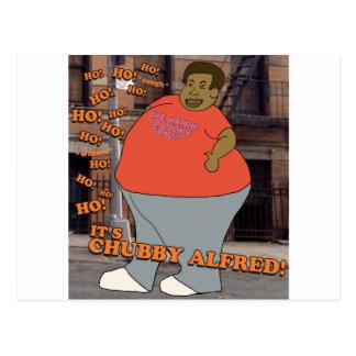 Ho Ho Ho Ho Ho é Alfred carnudo! Cartão Postal