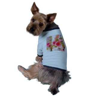 hollyhocks do tshirt do cachorrinho para essa camisa ringer para cachorro