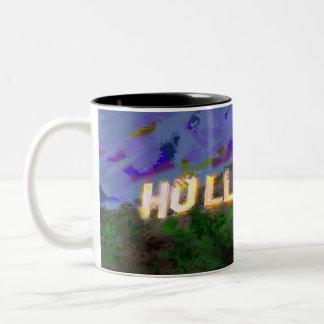 hollywood caneca de café em dois tons