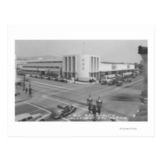 Hollywood, opinião de CA da cidade de rádio e dos Cartão Postal