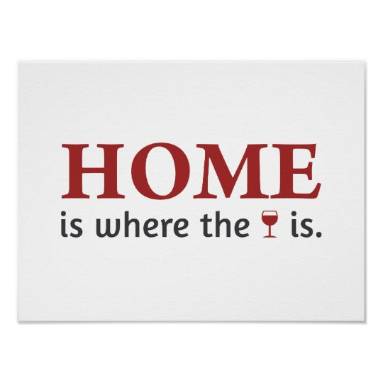 Home is where the wine is. póster