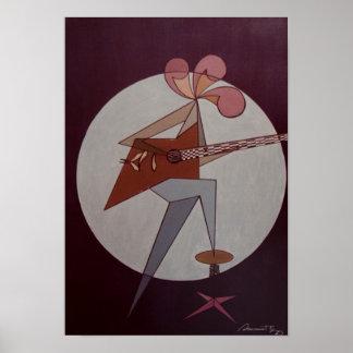 Homem 1975 da guitarra pôster