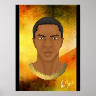 Homem africano pôster