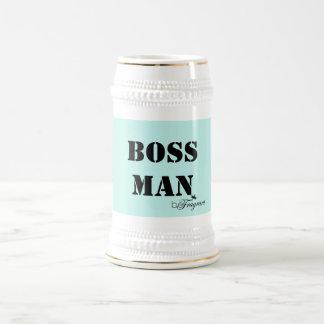 homem beFragrant do chefe da caneca de cerveja