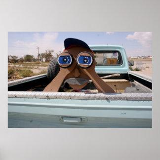 Homem binocular pôster