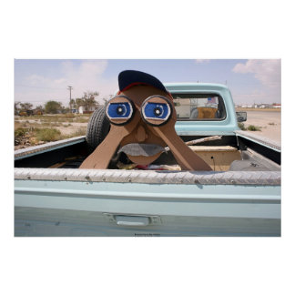 Homem binocular pôsteres