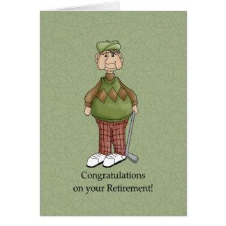 Homem da aposentadoria - humor cartão comemorativo