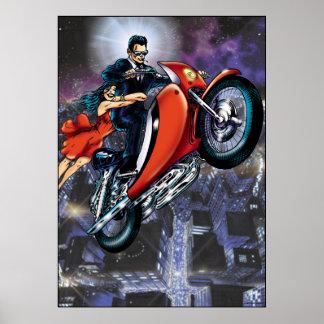 Homem da motocicleta poster