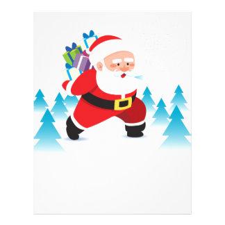homem da neve da rena do Natal de Papai Noel Papel Timbrado
