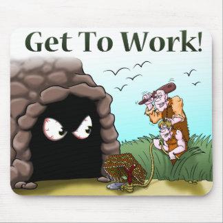 Homem das cavernas Mousepad do tempo de comensal -