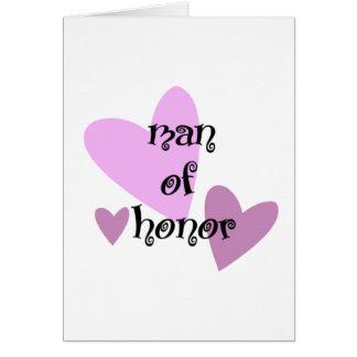 Homem de honra cartão