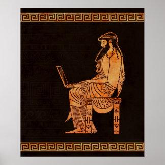 Homem de negócios do grego clássico poster