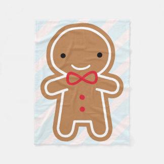 Homem de pão-de-espécie bonito do biscoito cobertor de lã