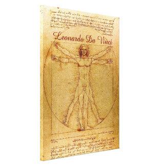 Homem de Vitruvian por Leonardo da Vinci Impressão Em Tela