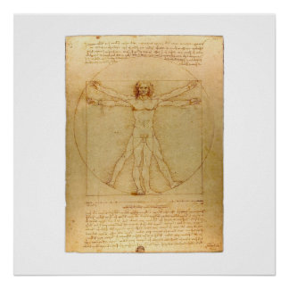 Homem de Vitruvian Poster