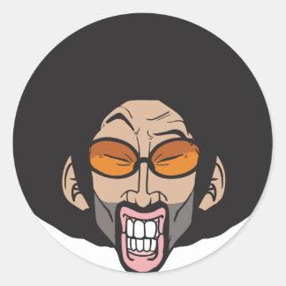 Homem do Afro de Hiphop Adesivos Redondos