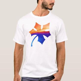 HOMEM do homem O e uma folha de bordo Camisetas