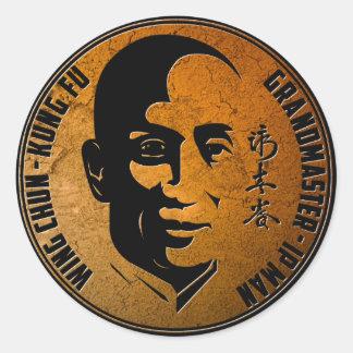 Homem do IP do mestre grande - asa Chun Kung Fu Adesivo