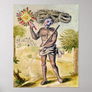 Homem do penitente em India Impressão