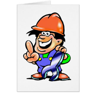 Homem dos desenhos animados em cartões de um
