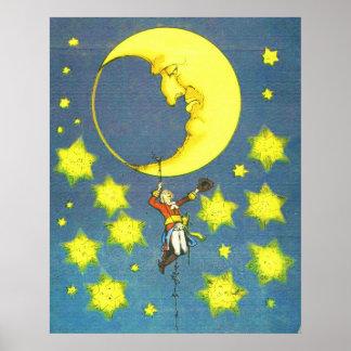 Homem e a lua poster