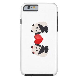 Homem e fêmea da panda com coração capa tough para iPhone 6
