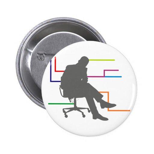 Homem ele escritório vernetzt office connected boton