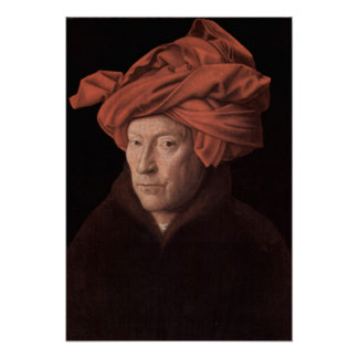 Homem em um turbante pôsteres