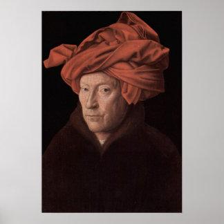 Homem em um turbante posters